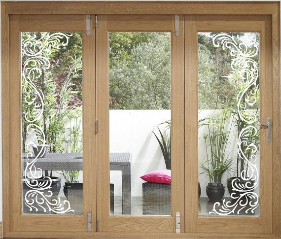 Transom Windows A Useful Design Element: Etched Glass Window Element Vinyl Sticker Decal Film G30