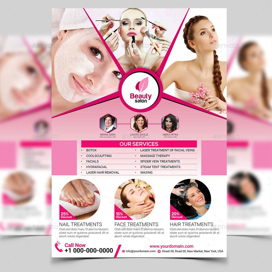 Beauty Salon Flyer Template  Projects To Try    Flyer