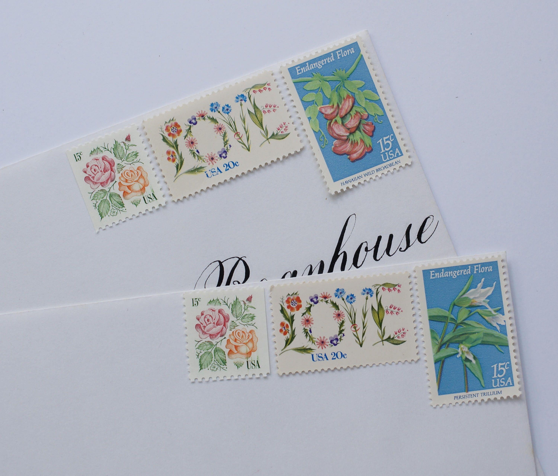 Vintage Stamp Set for 10 Wedding Invitations - 1 ounce - Elegant ...