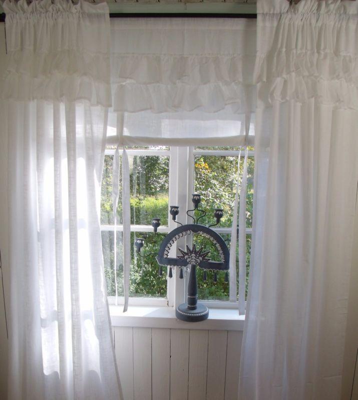 Carol Weiss Vorhang Gardine 120x240 Volant Landhaus Shabby Chic Vintage Curtain Vorhange Gardinen Gardinen Vorhange