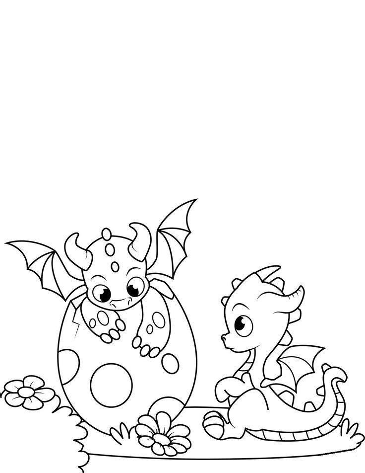 Baby Dragon Malvorlage Dragon coloring page Bunny
