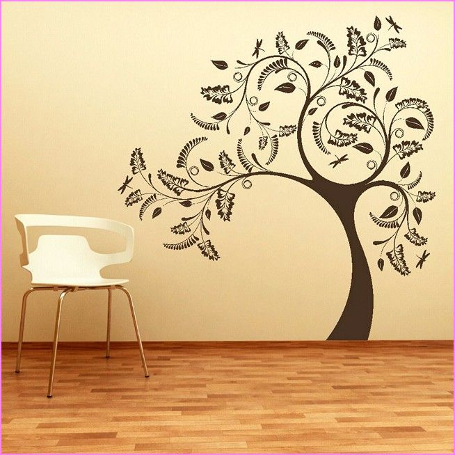 Large Tree Stencils For Painting Walls Best Home Design Ideas