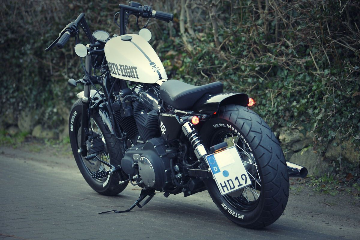 Harley Davidson Sportster 48 Xl 1200x Forty Eight Umbau Harley Davidson Night Train Harley Davidson Motorräder Harley Davidson Sportster