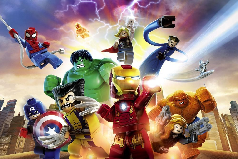 Lego Superheroes Assemble Photo Poster Canvas Picture Print Marvel Avengers