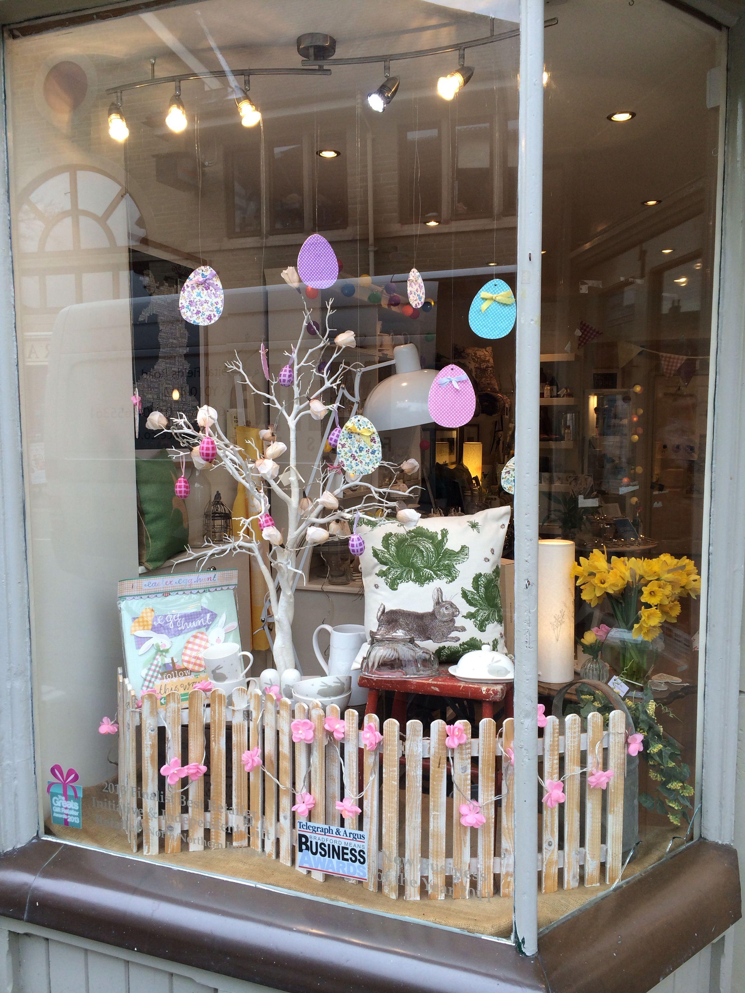 Nora S Shop Window Easter Ilkley Yorkshire Uk Boutique Window Displays Spring Window Display Window Display Retail