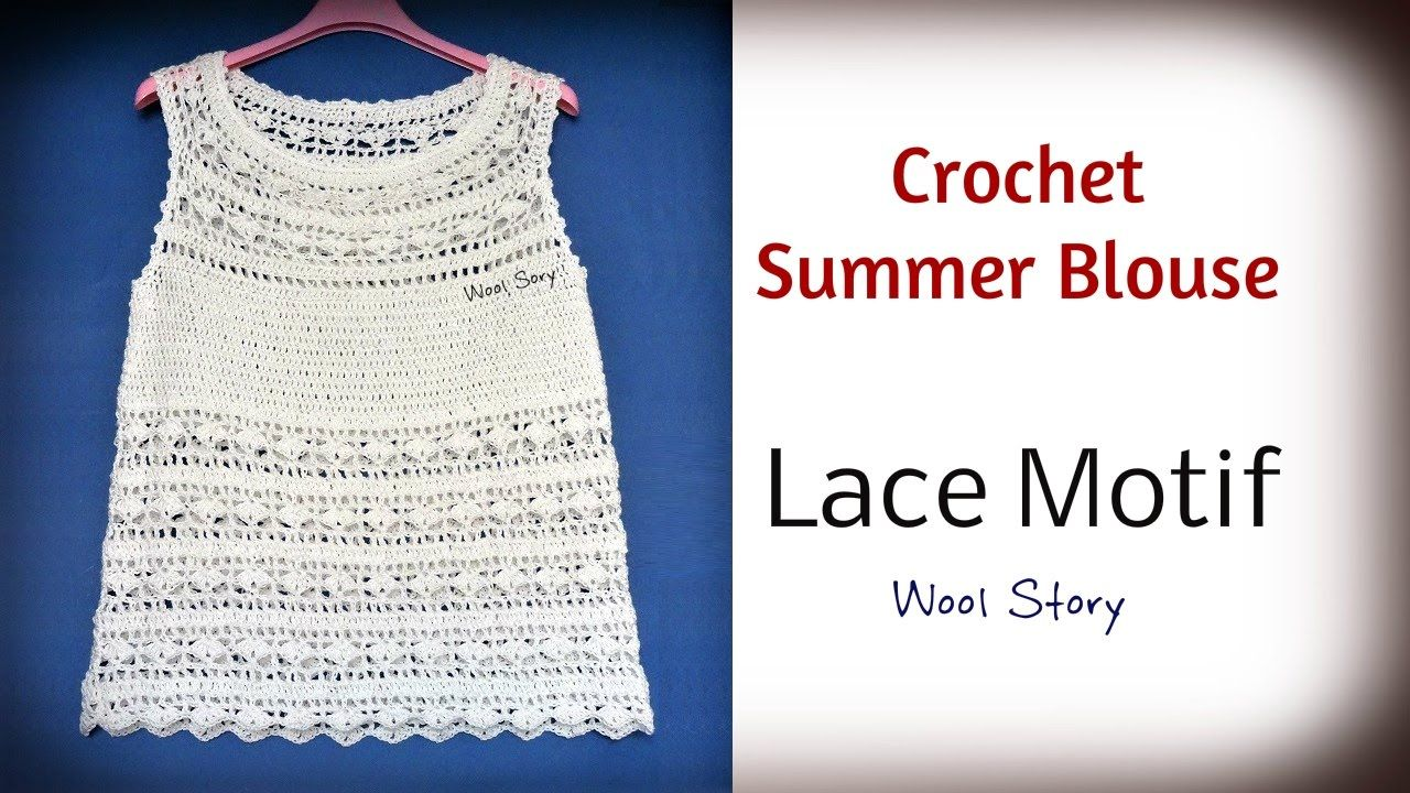 Crochet White Summer Blouse - Lace Motif (Heklana letnja bluza ...