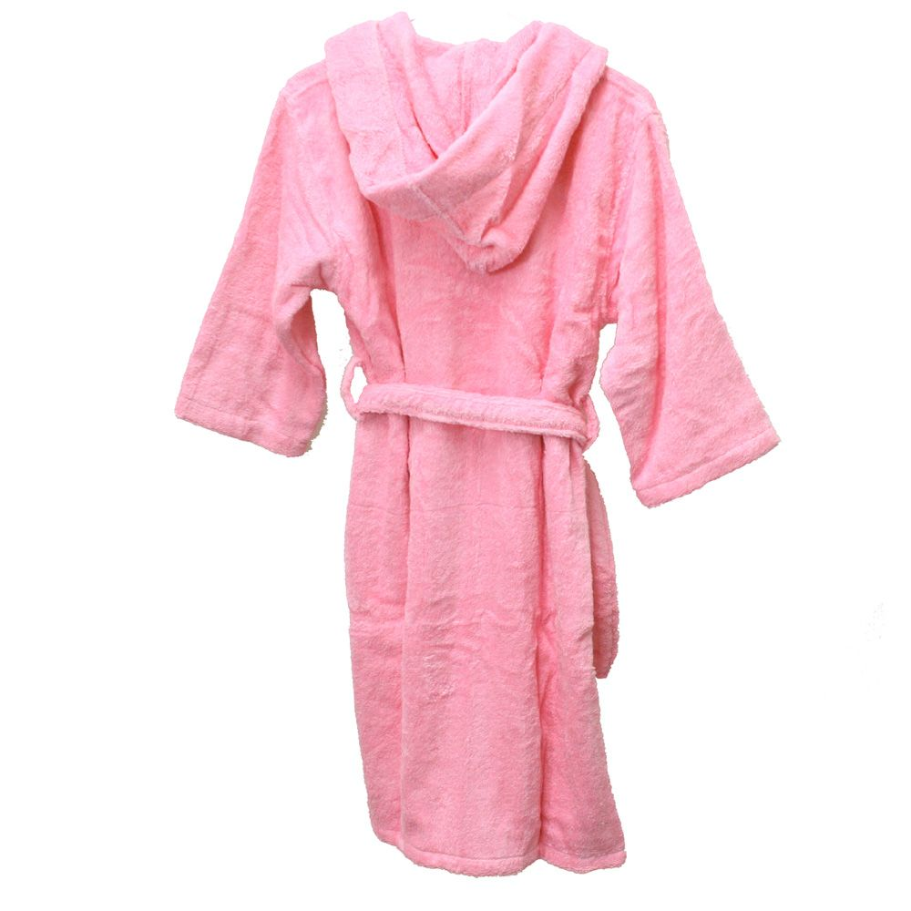 Boys Kids Terry Bamboo Cotton Hooded Robe Bathrobe Girls