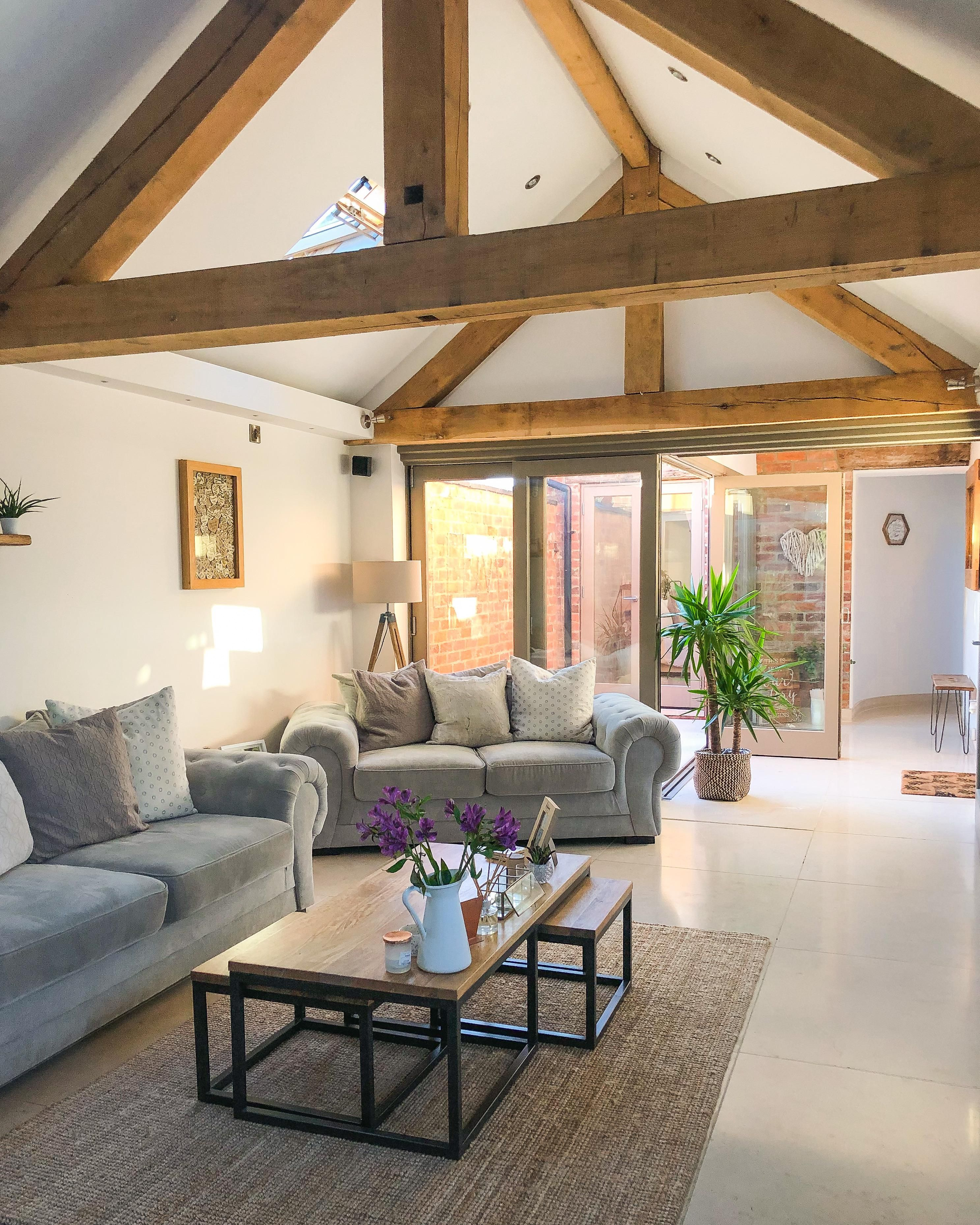 Rustic Living Roomdesign Ideas: Main Living Area Of Our Converted Cow Barn. Staffordshire
