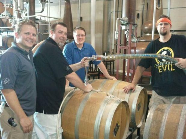 Lucky Bucket Crew pumping out Barrel Aged Sour Cherry Lambic