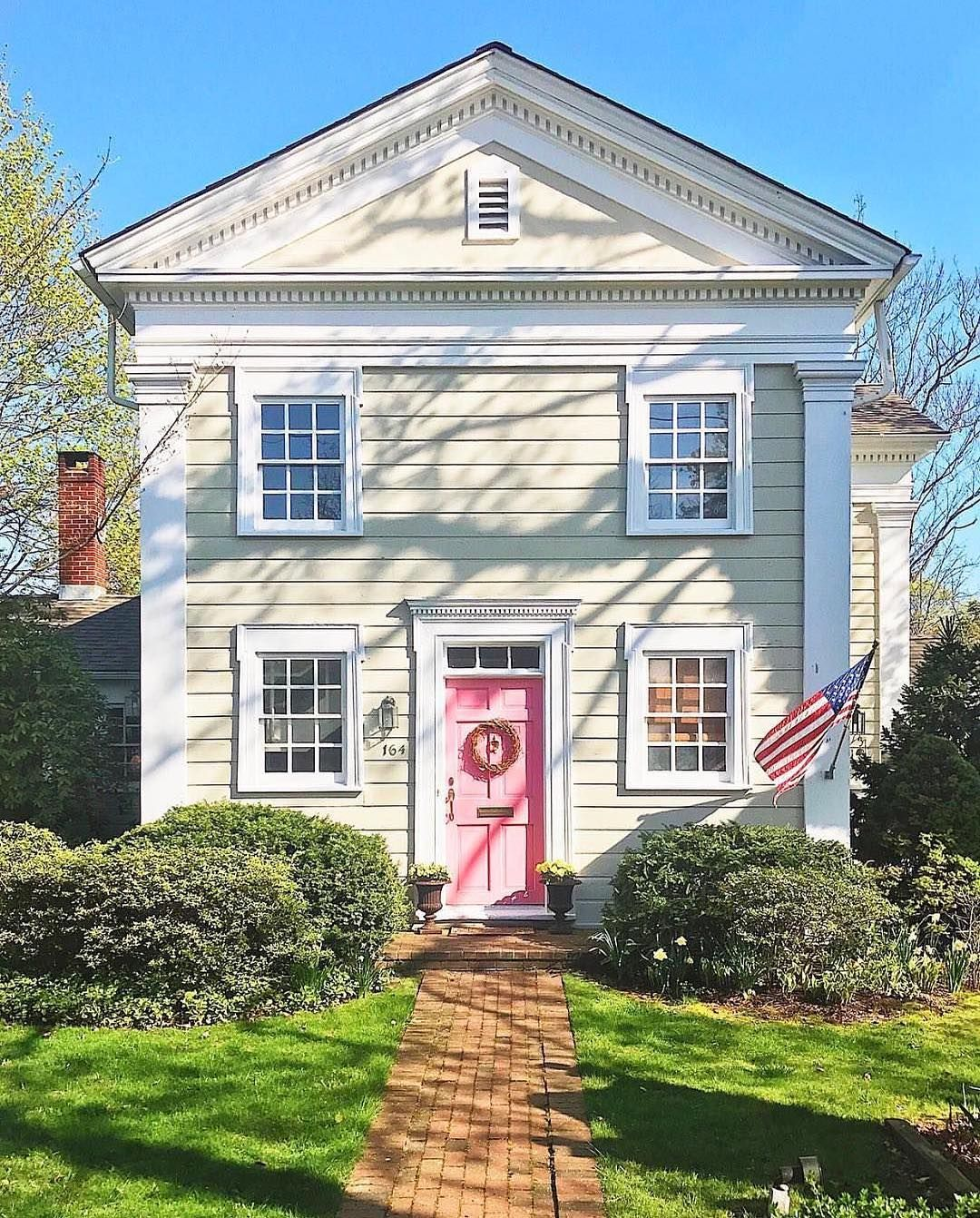 Love this house but would probably paint the front door red or ...
