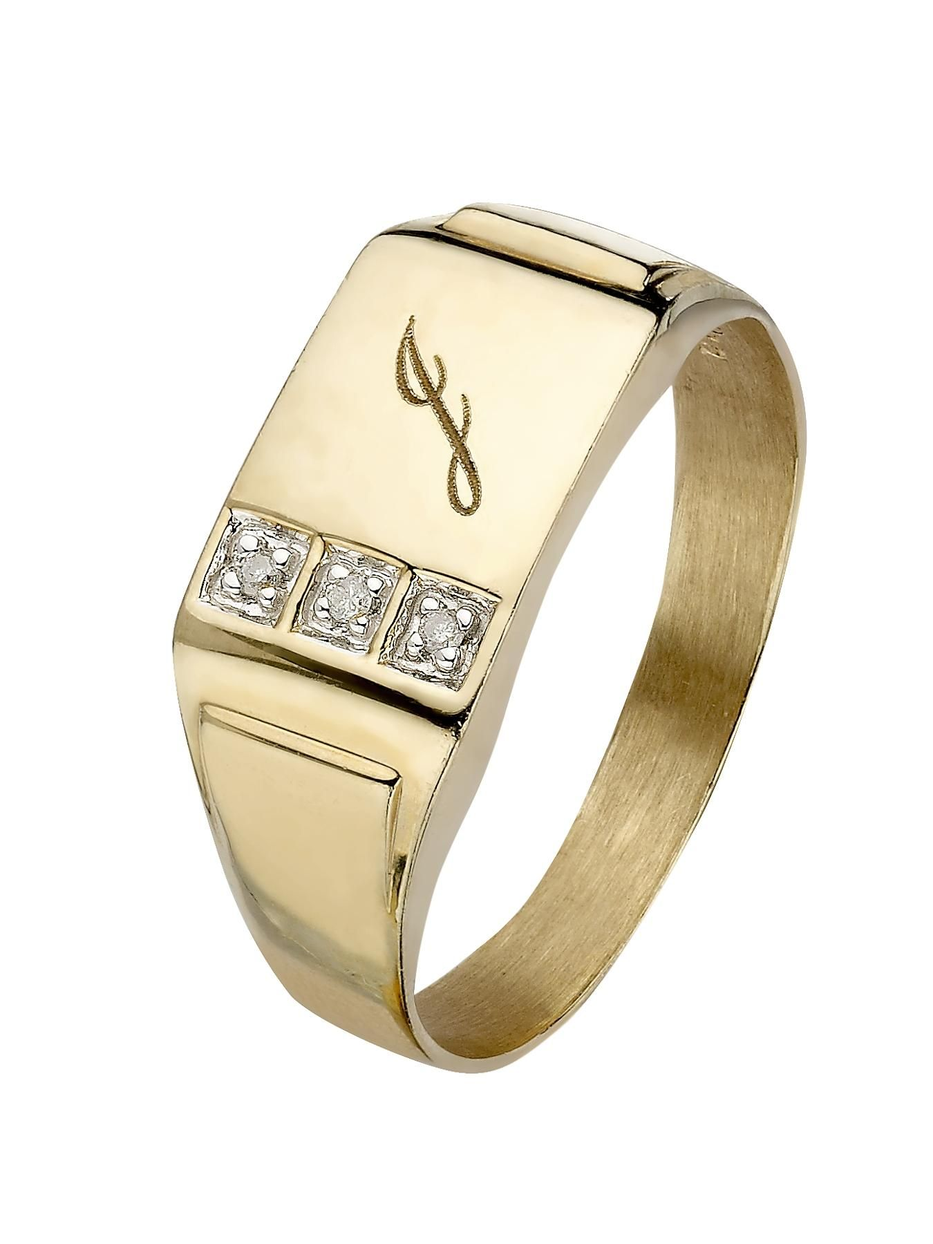 d0bf89d9a67971 9ct Yellow Gold | Mens | Rings | Gifts & jewellery | www.littlewoods ...