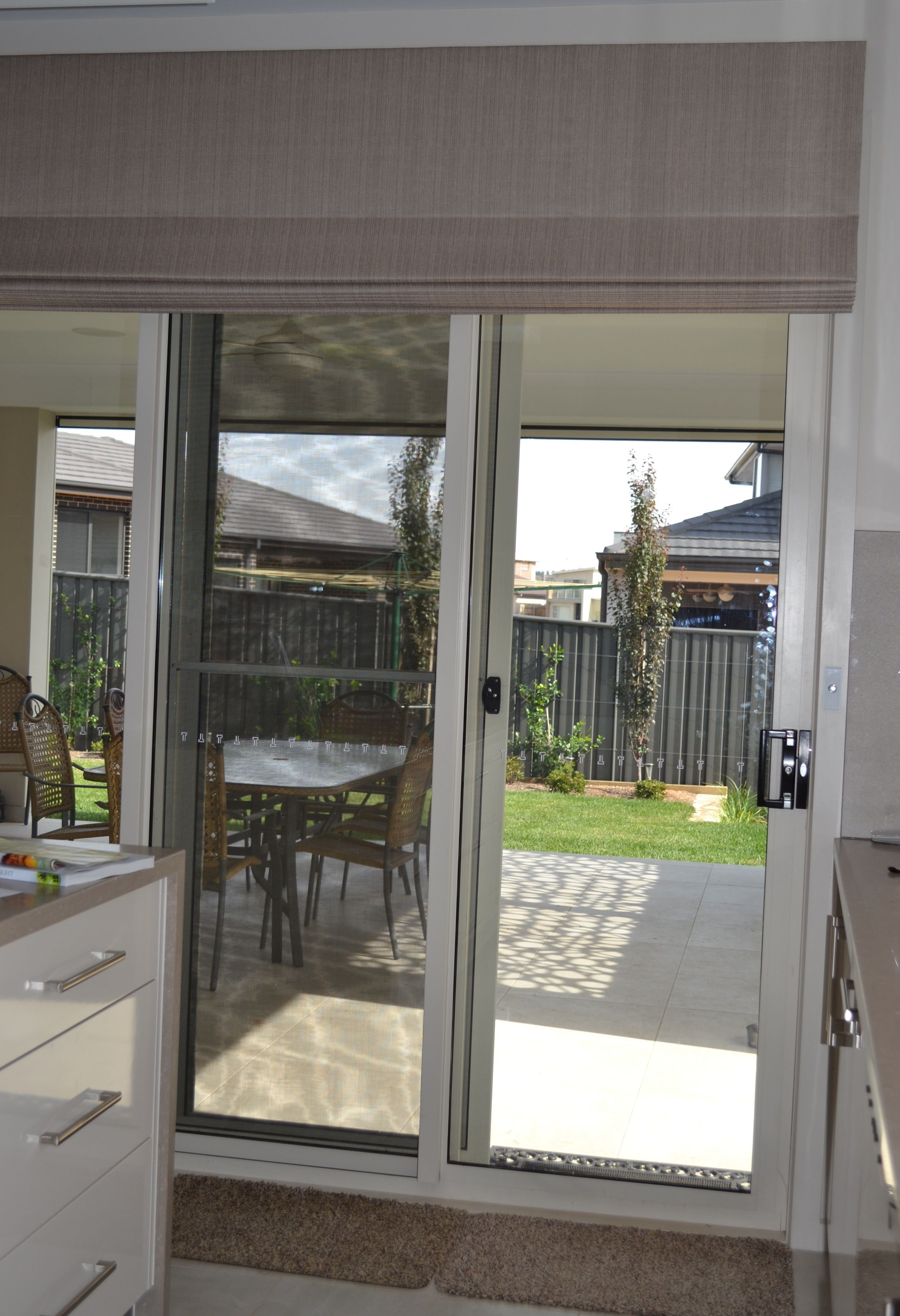 Roman blinds are great for sliding doors ideas for the house