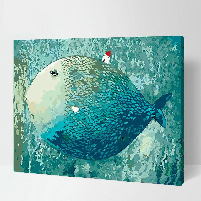 Anime Fish Paimt By Number Kit Home Decor Colourlifefinds On Etsy Https