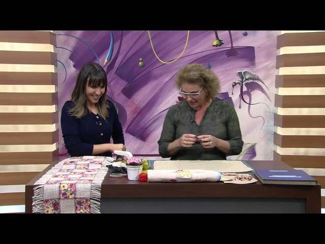 Toalha de Retalhos na Juta por Claudia Niero - Parte 1