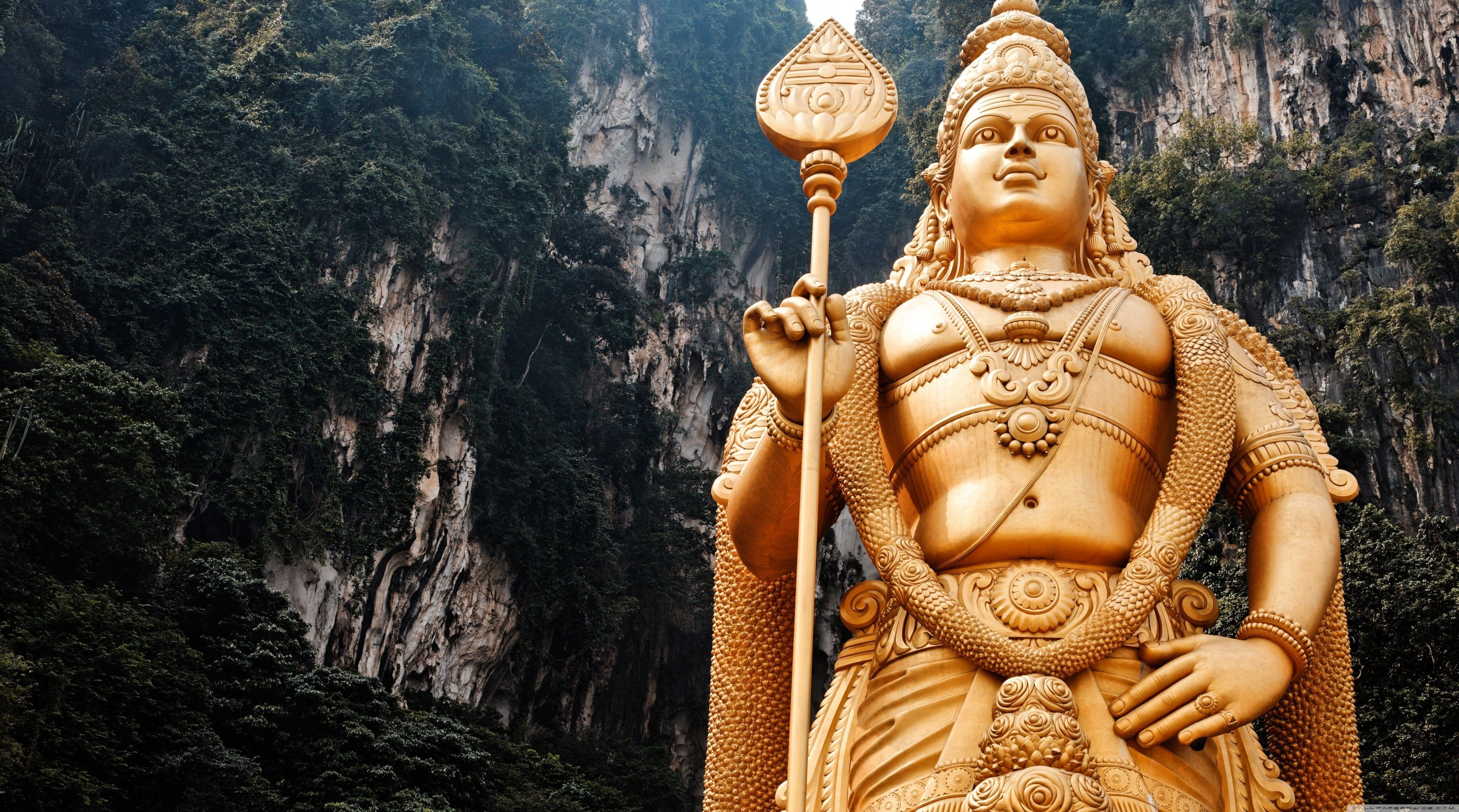 3840x2138 lord murugan statue 4k new hd pc wallpaper