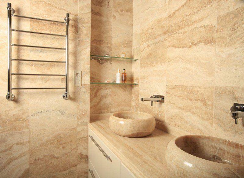 salle de bain travertin – le chic noble de la pierre naturelle