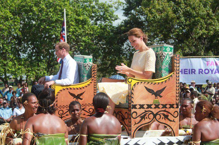 Pin for Later: The Royal Family's Travel Album Solomon Islands The duke and duchess of Cambridge were carried in elaborate chairs in the Solomon Islands.