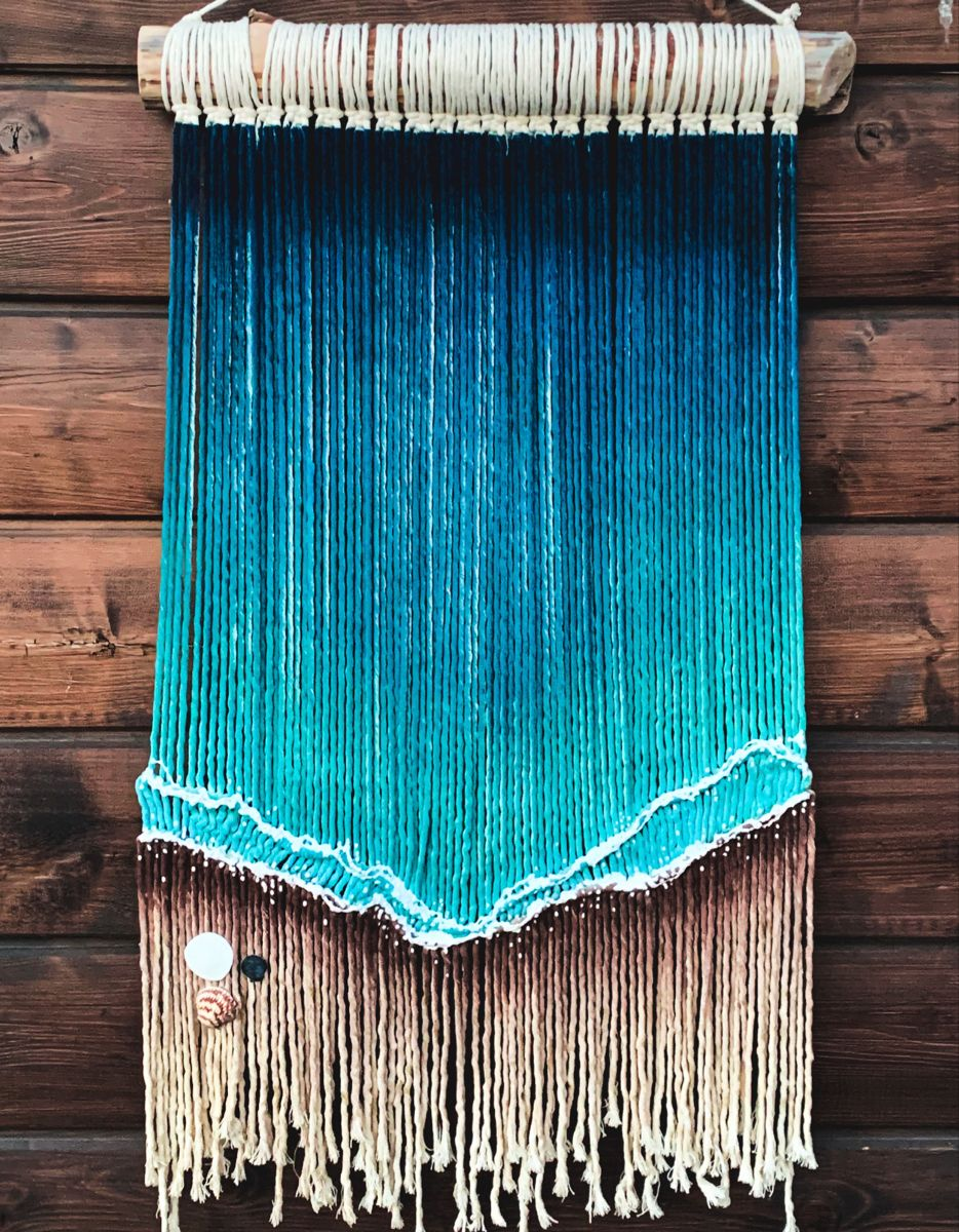 Ocean Art // Beach Art // Macrame // Dye Art