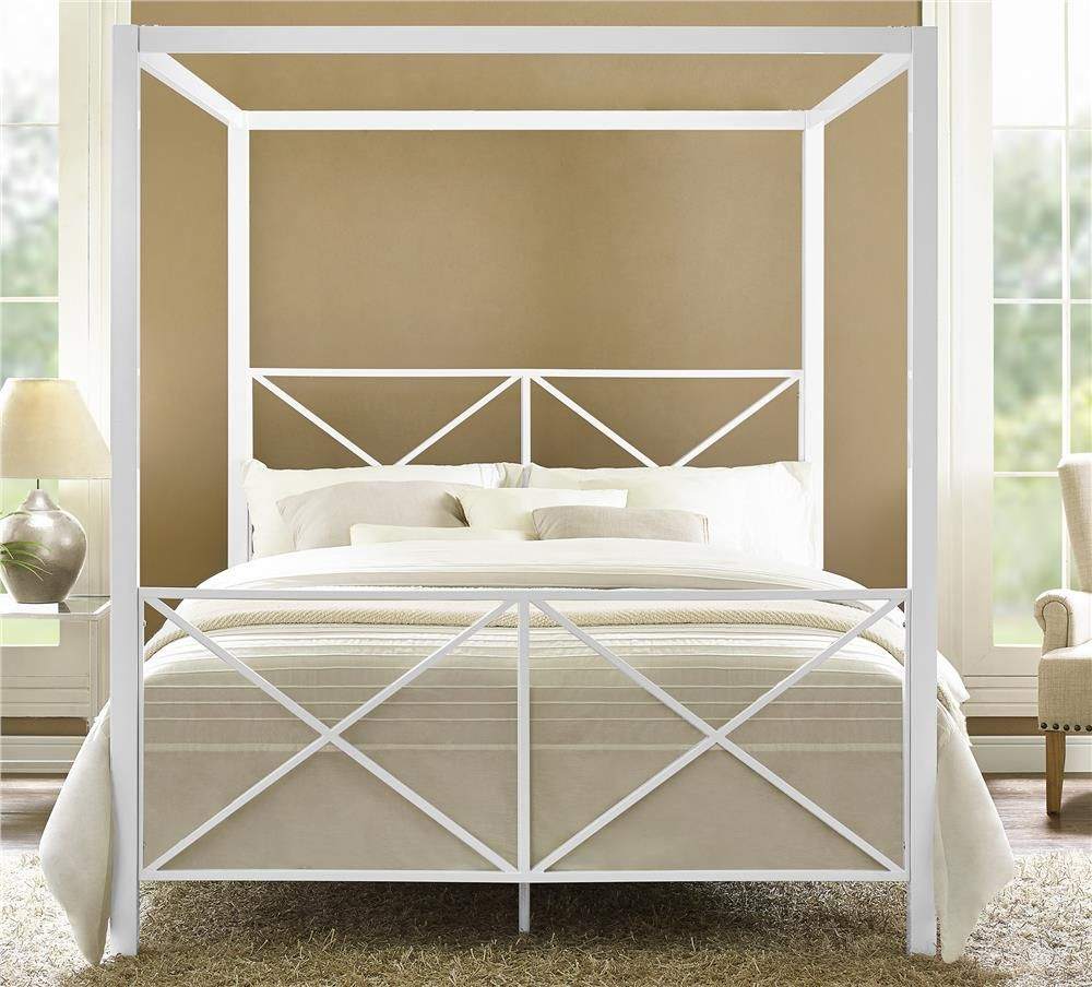 Dhp Furniture Rosedale Metal Canopy Queen Bed The Sleek And Modern With Dramatic Presence Made Out