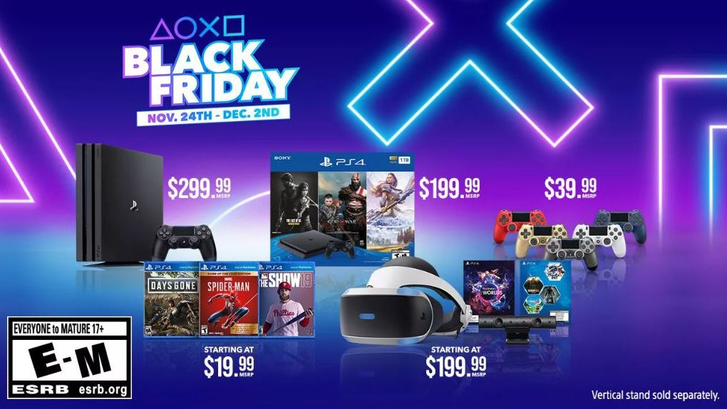 Sony Reveals Its Official Black Friday Ps4 And Ps4 Pro Deals With Top Games From 20 Ps4 Bundles Ps4 Black Playstation