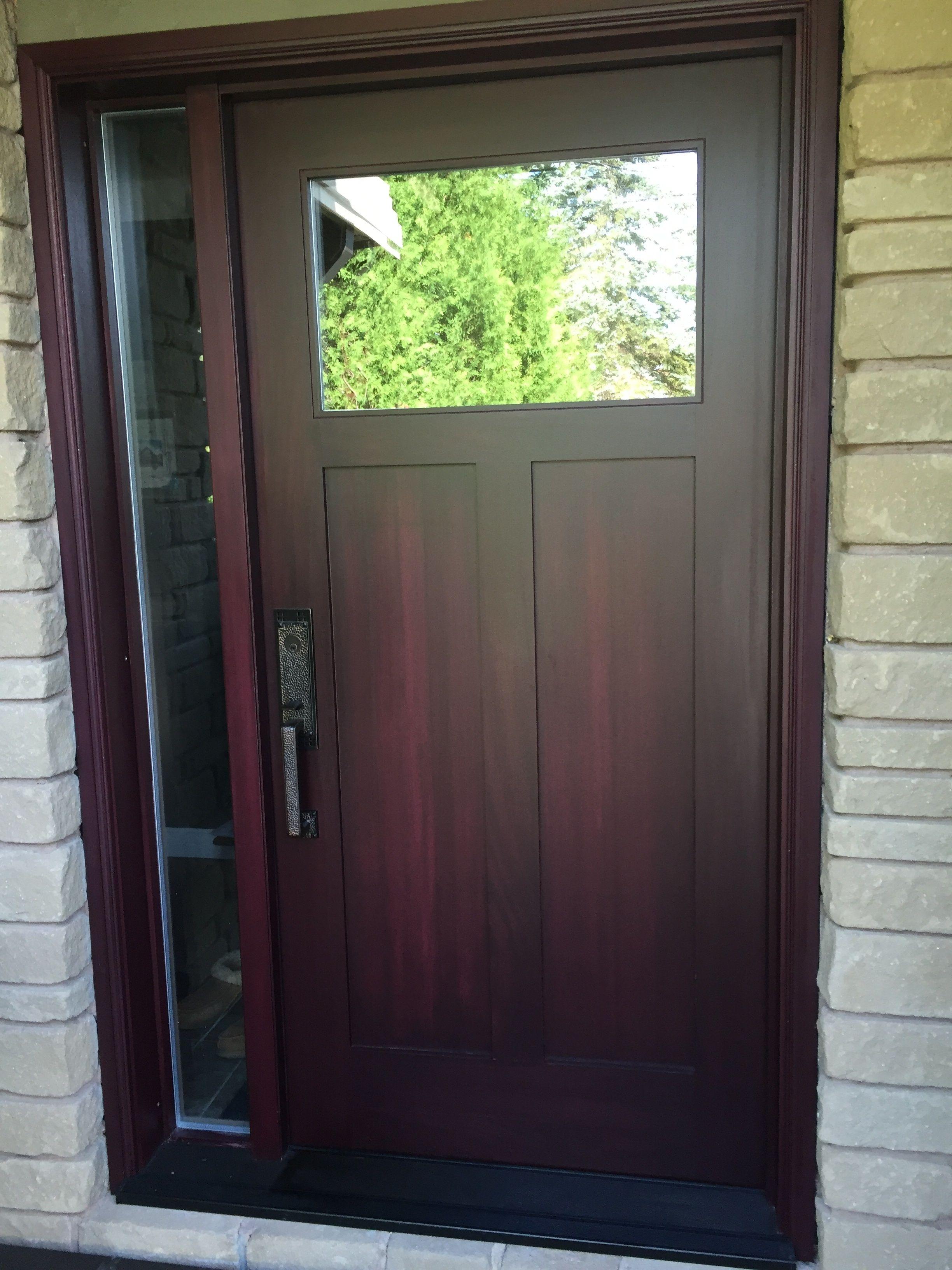 Shaker Style 1 Lite 2 Panel Door W Full Glass Sidelite Exterior Door Manufacturers Exterior Doors Interior And Exterior