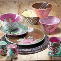 Unique Colorful Dinnerware Sets | painted dinnerware is so unique ...