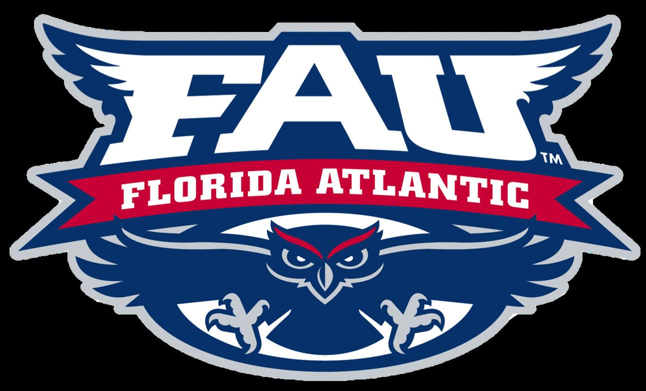 Florida Atlantic Owls Primary Logo Png 1293 783 Florida College Logo College Athletics