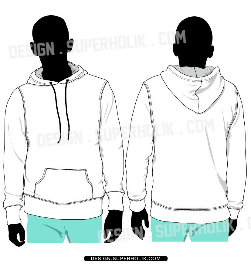 f8612d11f Pullover hoodie vector set model   flat