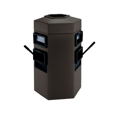 Enjoyable Commercial Zone Islander Series 35 Gallon Trash Can Interior Design Ideas Gentotthenellocom
