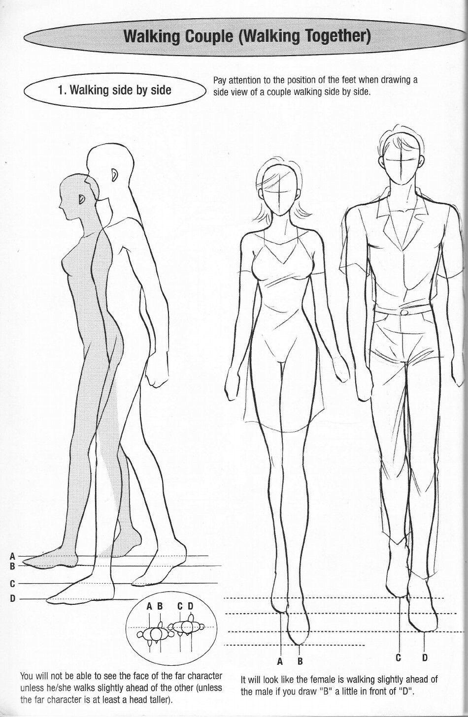 Pin By Carlene Michalk On Drawing References Walking Poses Manga Drawing Posture Drawing