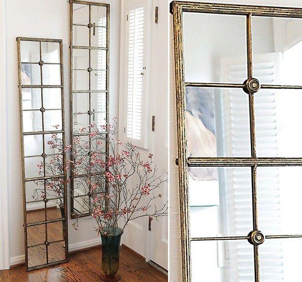 Framed Window Pane Mirror Gold Paned Mirror Window Pane Mirror