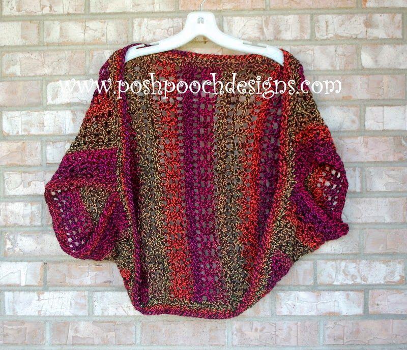 Firecracker Shrug Free Crochet Pattern - | Free crochet, Crochet and ...