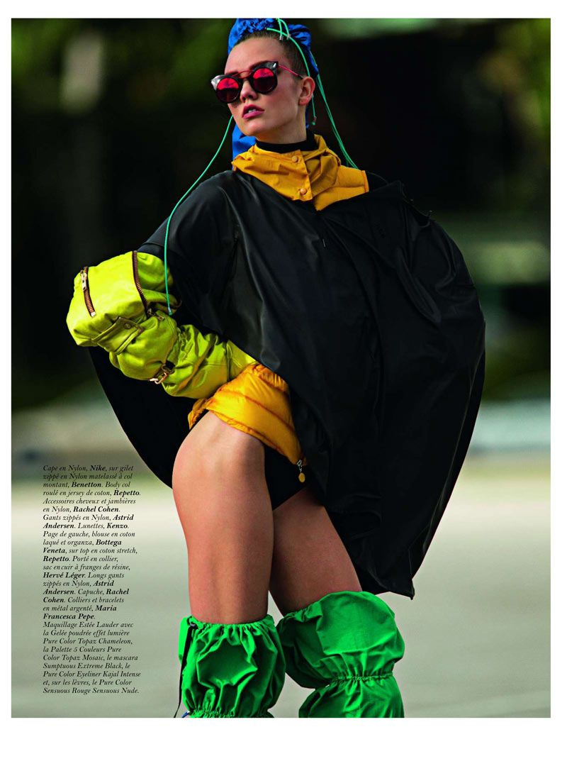Karlie Kloss by Hans Feurer for Vogue Paris March 2012  (Black by Sara)