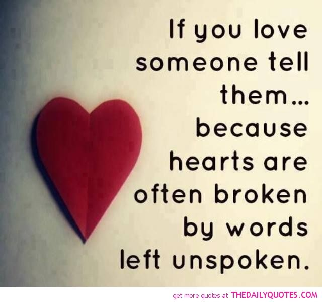 "And sometimes hearts are broken because someone says ""I love you, but..."" That hurts worse than not being loved."