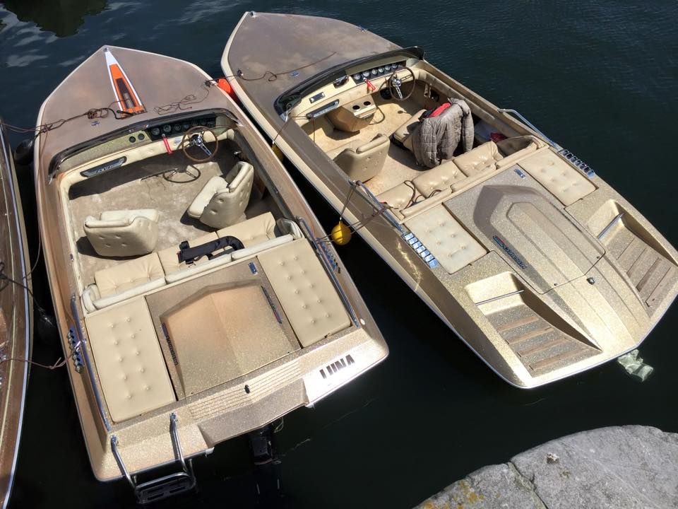 Brother And Sister Glastron Carlson Cvx 18 Cvx 20 Deluxe Mine Runabout Boat Utility Boat Speed Boats