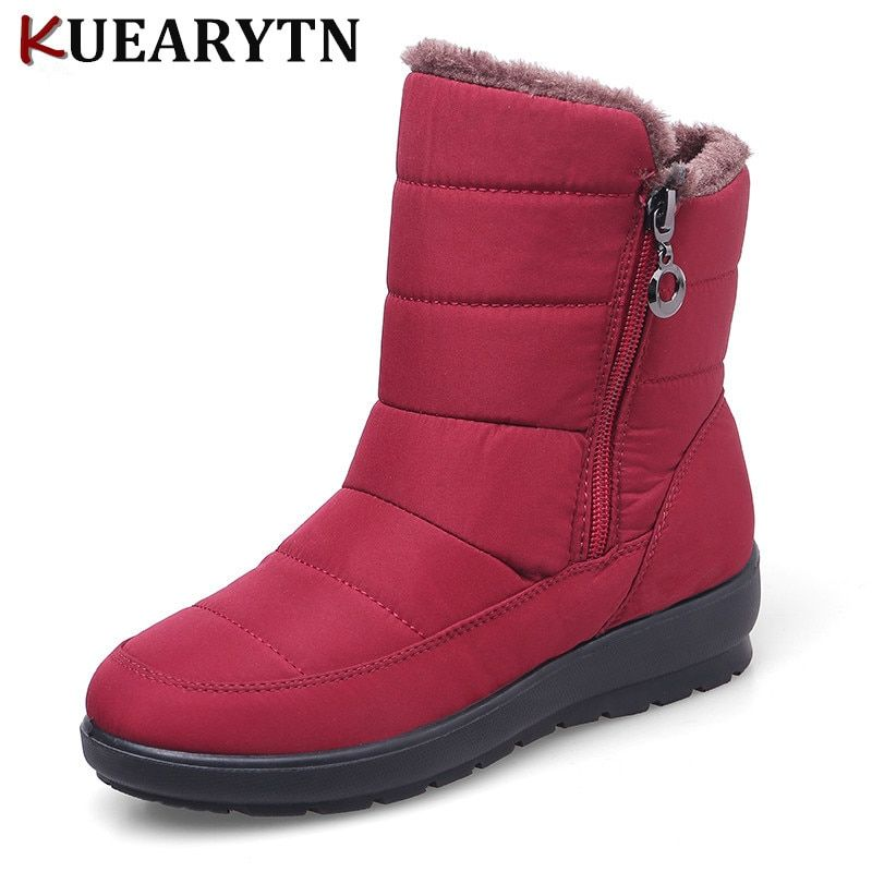 5c331c7069dc 2018 fashion Plus Size Waterproof Flexible Woman Boots High Quality Warm Fur  Inside Snow Boots Winter Shoes Woman calzado mujer Review