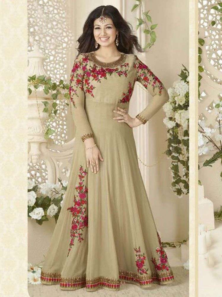 Indian Pakistani Bollywood Designer Wedding Party New Long Anarkali Gown Suits