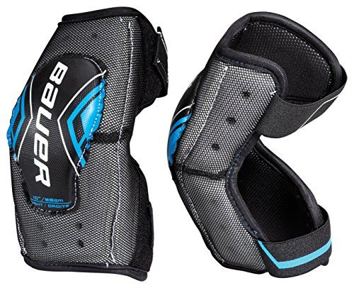 Bauer Senior Street Hockey Elbow Pads Pair 11 Inch Black Hockey Elbow Pads Street Hockey Elbow Pads