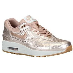 nike air max 1 cut out - womens met red bronze
