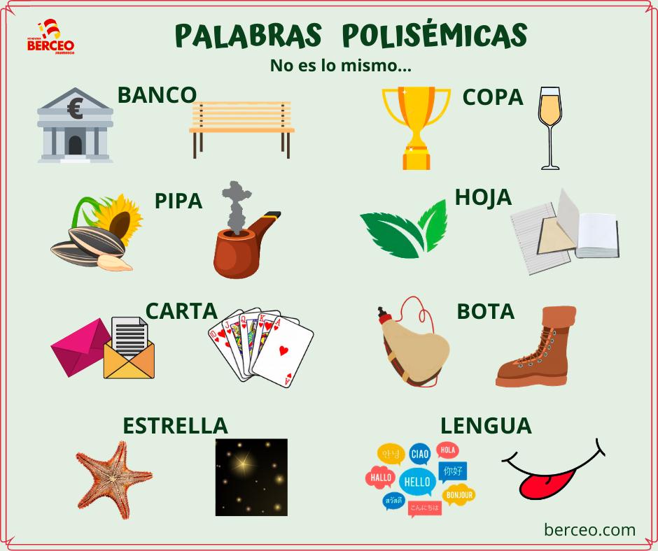 Palabras polisémicas en español | Aprender español, Palabras ...