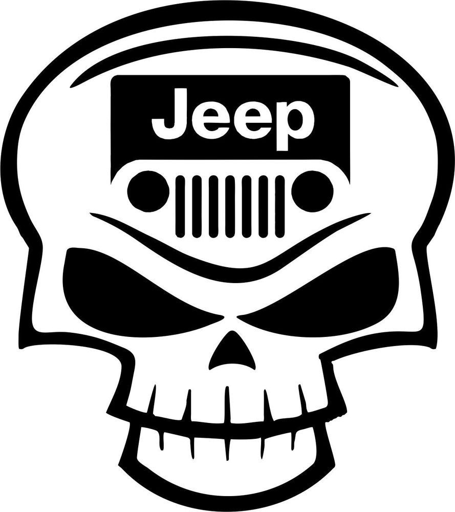 Jeep Jk Skull Logo Emblem Set Kit Custom Rock Climb Sport Wrangler 4 0l Oracal Skull Decal Jeep Emblem Logo