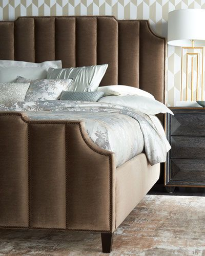 6KCN Bernhardt Bree Channel-Tufted King Bed Bree Channel-Tufted ...