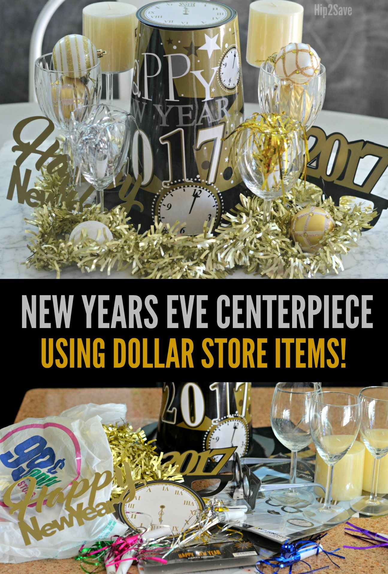 New Year's Eve Centerpiece Idea (Using Dollar Store Items ...