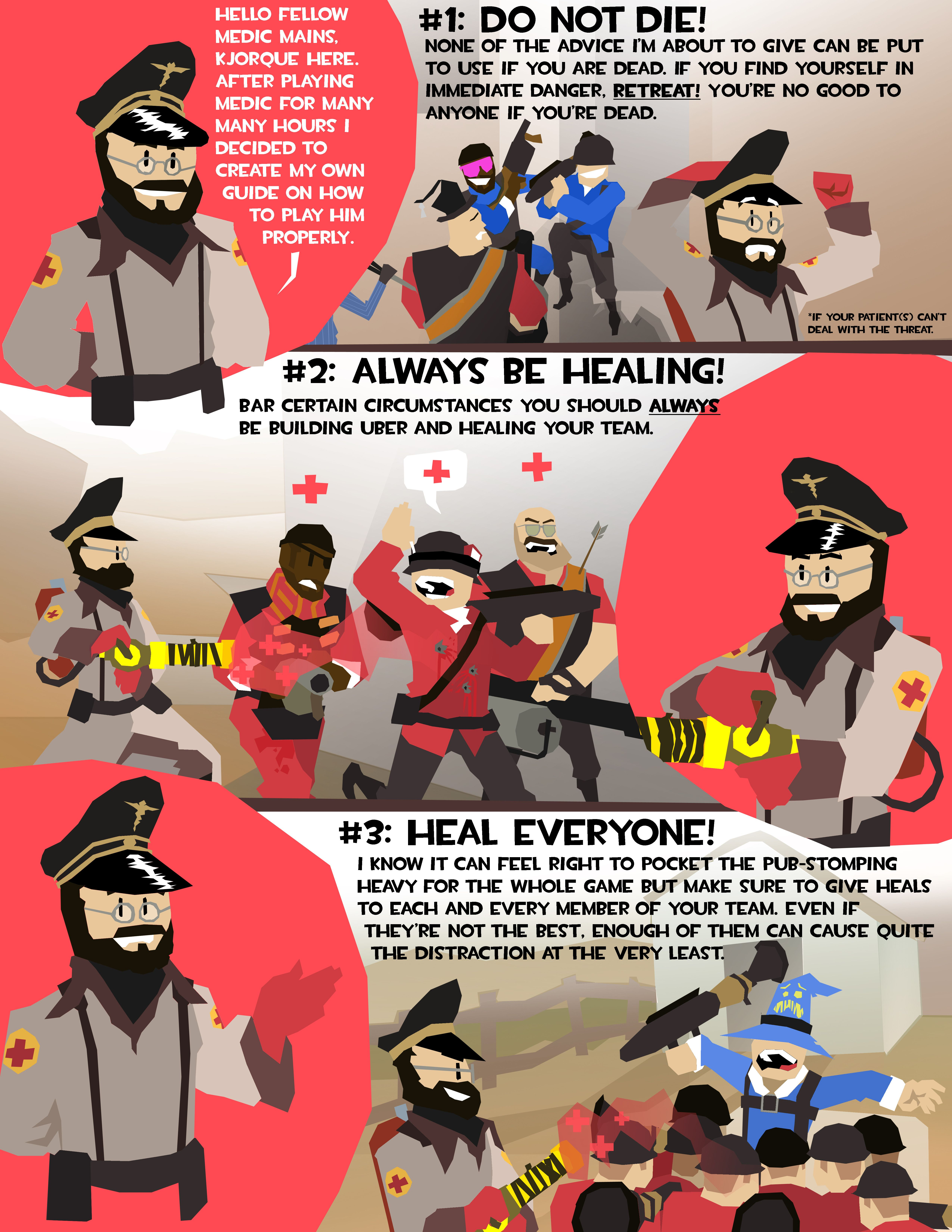 My Illustrated Guide to Playing Medic [OC] #games #teamfortress2 #steam #tf2  #SteamNewRelease #gaming #Valve