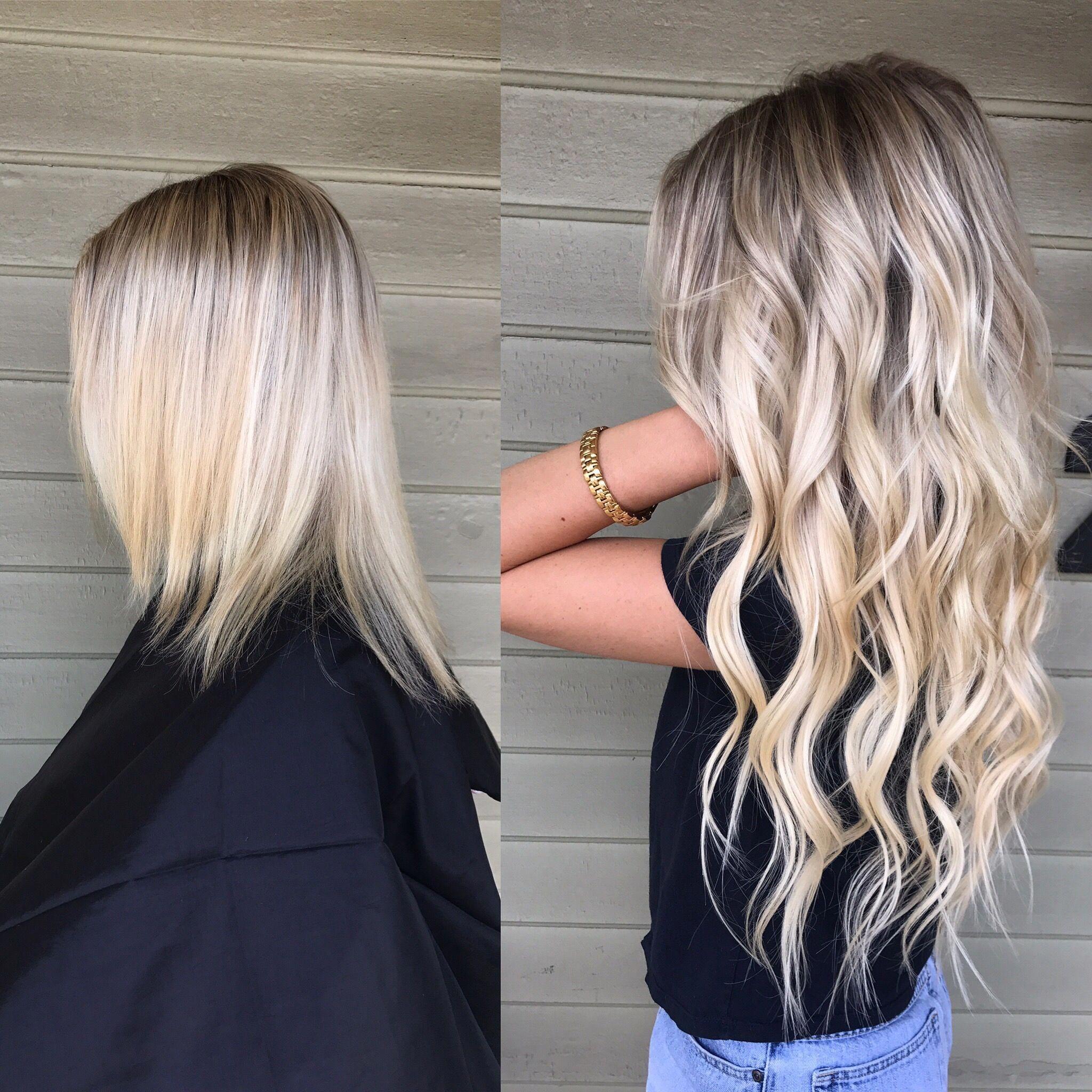 Blonde & Dreamcatchers hair extensions #Longandshort  Hair