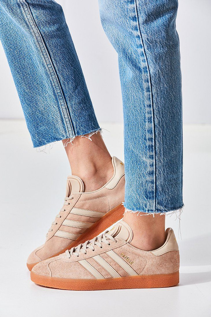 Suede Gum Sole Gazelle Sneakers in Tan