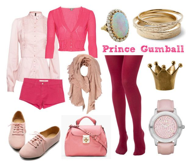 """Prince Gumball"" by tinkerbull ❤ liked on Polyvore featuring Seychelles, MANGO, Bandolera, Ollio, Vero Moda, Chloé, White House Black Market, DKNY, neil patrick harris and adventure time"