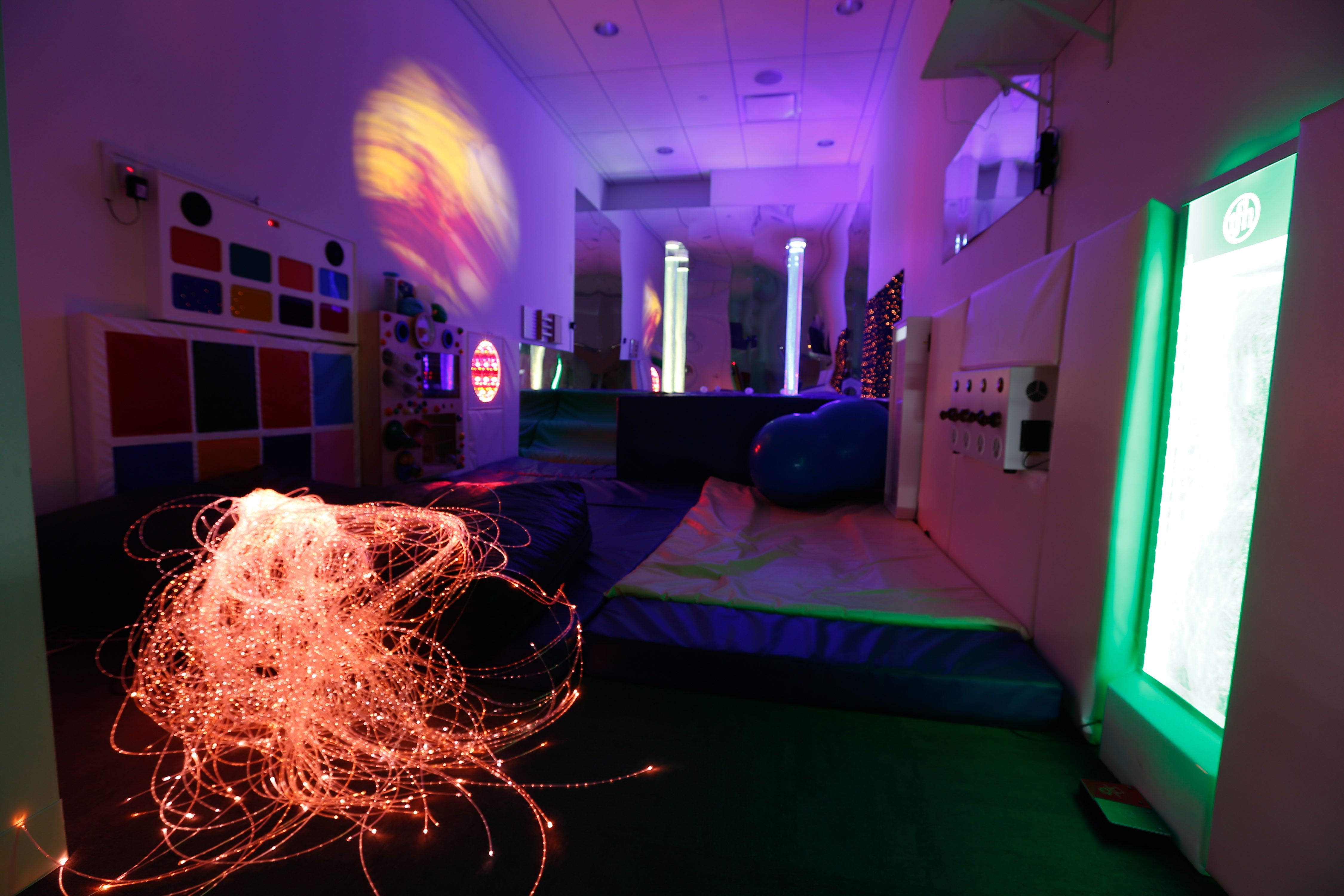 The multi sensory room in Cornell munity Centre which is used
