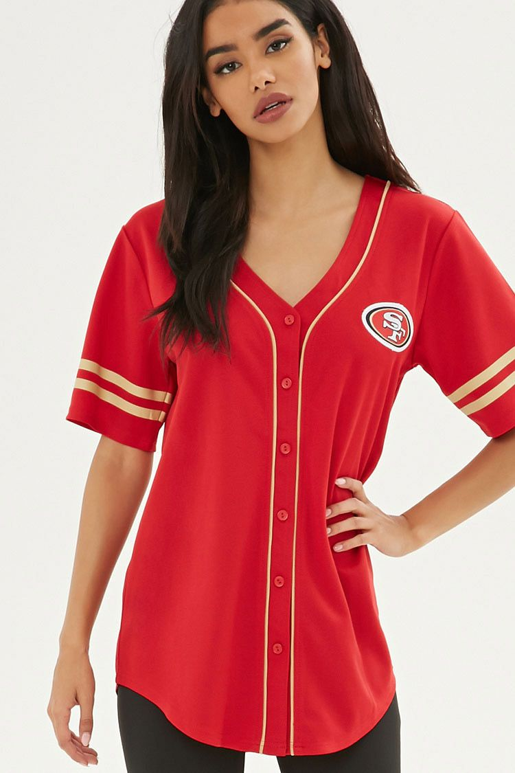 half off c95dd ca43d NFL 49ers Baseball Jersey | Forever 21 in 2019 | Nfl 49ers ...