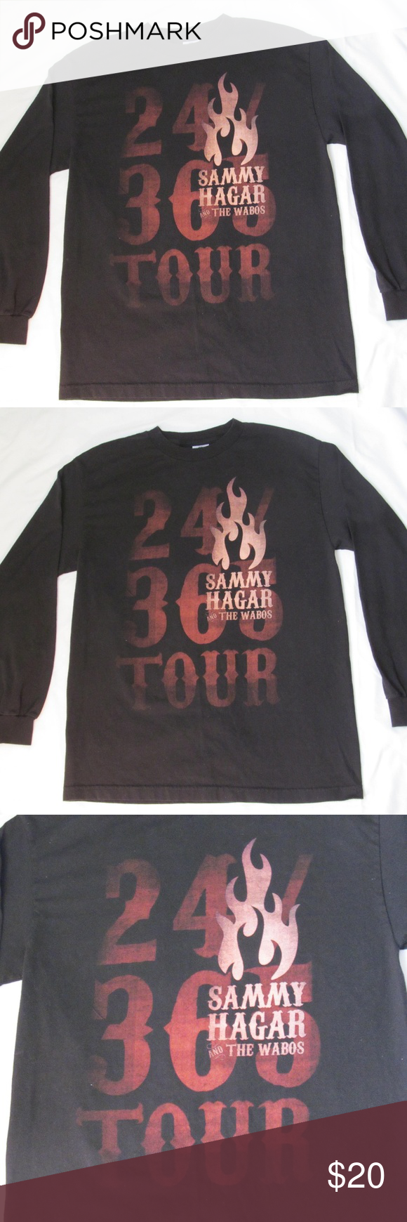 Sammy Hagar Red Rocker Wabos 24 365 Tour T Shirt Tour T Shirts Red Rocker Tour Shirt